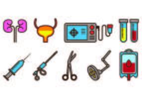 Conjunto de ícones de urologia