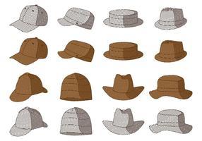Coleção Vintage Headwear vetor