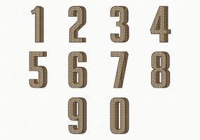 Coleção de número de vintage vetor