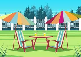 Cadeira de gramado no parque vetor