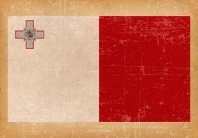 Bandeira grunge de malta vetor