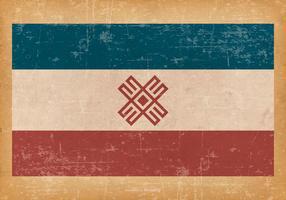 Bandeira do grunge de Mari El vetor