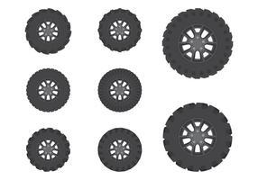 Coleção Offroad Wheel vetor