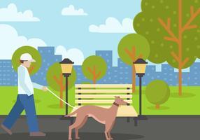 Cachorro do whippet no parque vetor