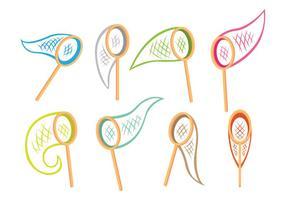 Ícones da rede de borboleta vetor