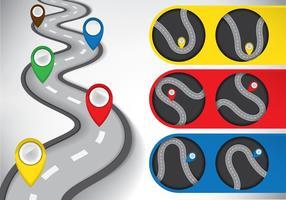 Ilustração do Roadmap vetor