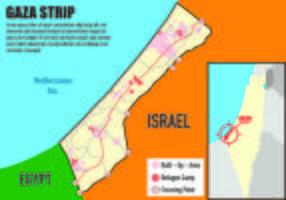 Mapa Infográfico de Gaza vetor