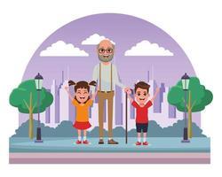 personagens de desenhos animados em família juntos