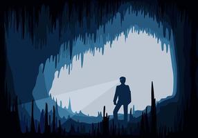 Cavern man free vector