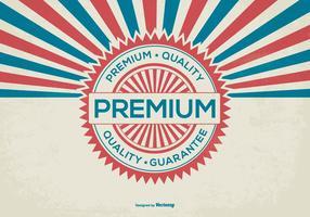 Antecedentes de qualidade retro premium promocional