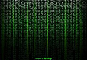Vector de símbolos verdes de fundo no estilo da matriz