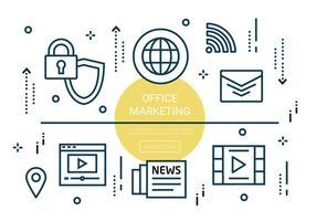 Elementos de Marketing Linear Office gratuitos vetor