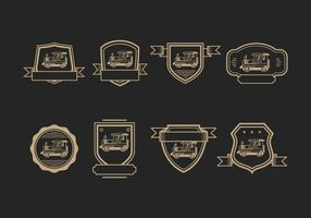 Logotipo de Logotipo Caboose Badges vetor