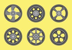 Pacote de vetor de rodas de liga leve