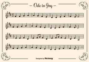 Ode para alegria vector background