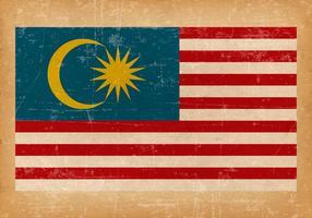 Bandeira do grunge da Malásia vetor