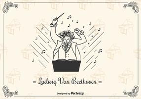 Fundo do vetor de Beethoven