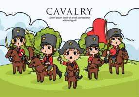 Ilustração vetorial de cavalaria vetor