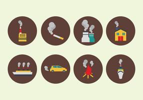 Vetores de Origem de Fumo