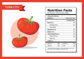Fato nutricional Vector de tomate