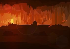 Fundo da Caverna Vector Gratuito