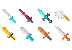 Jogo grátis de RPG Ícone de ícones de armas vetor