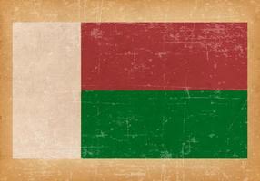 Bandeira do grunge de Madagascar vetor