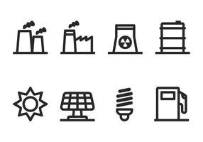 Conjunto de ícones industriais vetor