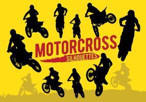 Silhuetas de Motorcross vetor