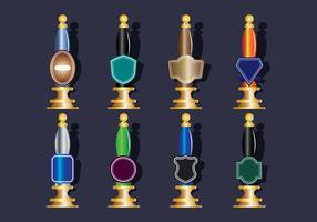 Ícones da bomba de cerveja configurados vetor