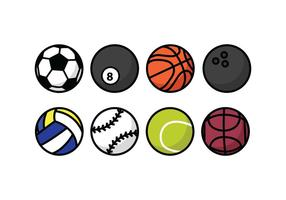 Ícones de bola vetor