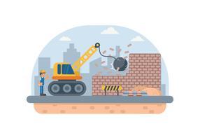 Ilustração gratuita de demolição de construção vetor