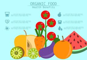 Benefícios alimentares saudáveis vetor