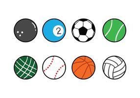 Conjunto de ícones de bola vetor
