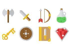 Vetor de ícones do jogo rpg grátis