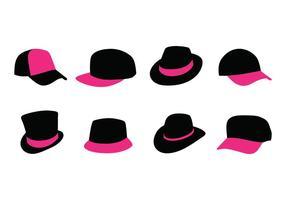 Pacote vetor de chapéus