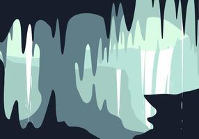 Cachoeira na caverna Vector grátis