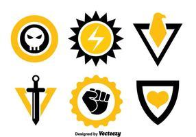 Vetor de coleção de símbolos super-herói
