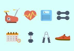 Vetores de Fitness planos