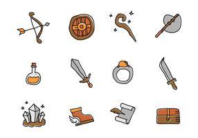 RPG Game Element Vectors
