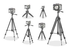 Estilo do modelo plano do tripé da câmera vetor