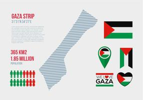 Infografia gratuita de vetor de faixa de Gaza