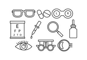 Free eye doctor line icon vector
