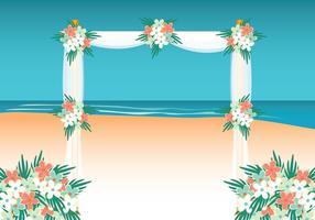 Fundo de casamento de praia vetor