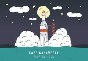 Lançamento de foguetes em Cabo Canaveral