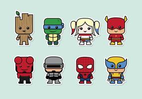 Vetor super heróis