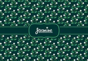 Vetor de padrão padrão de jasmim distante