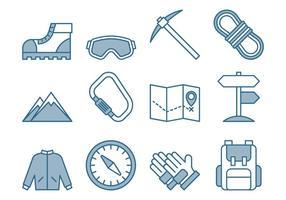 Conjunto de ícones de escalada vetor