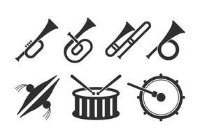 Conjunto de ícones de banda vetor