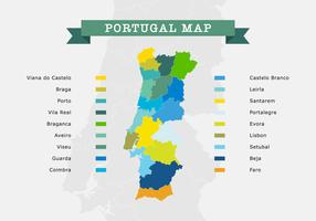 Mapa de Portugal vetor